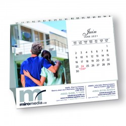 Calendriers de table 6''x3¾'', RLCT