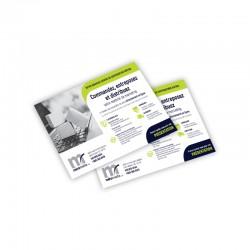 Cartons Publicitaires 4.25x5.5, 4/0 + Vernis AQ sur 16 pts