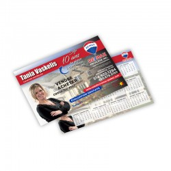 Cartons Publicitaires 5x7, 4/0, Laminés mat ou lustré sur 14 pts