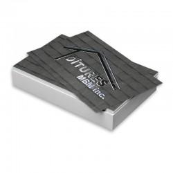 Cartes d'affaires 14 points, Imprimées 2 côtés, Laminées Mat + Spot UV