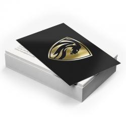 Cartes d'affaires 14 points, Imprimées 2 côtés, Laminées Mat + Foil sélectif 1 côté argent ou or