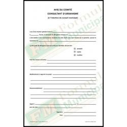 Avis du comité consultatif, 2 copies ncr, FLA218/265-C-NCR