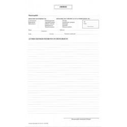 Annexe à une demande de permis ou de certificat, 4 copies NCR (paquet de 25), FLA615/266-NCR