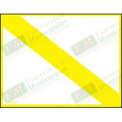Bande et cadre jaune seulement pour permis ou certificat sur papier 16 millièmes pour imprimante (paquet de 25), FLA632/217-F