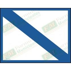 Bande et cadre bleu seulement pour permis ou certificat sur carton 21 millièmes pour imprimante (paquet de 25), FLA701/151F