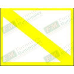 Bande et cadre jaune seulement pour permis ou certificat sur carton 21 millièmes pour imprimante (paquet de 25), FLA703/153F