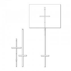 Poteau en acier 5' (blanc) 2 sections, ML5POSTAN